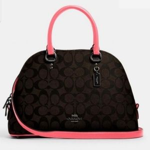 COACH Katy Brown & Pink Lemonade Satchel